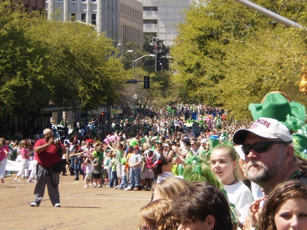 Crowd shot.  Rumor has it that Jackson has one of the largest St. Patrick's Day parades in the country?!?